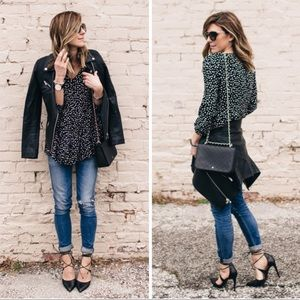 Maeve Lila Tiered Button Up Tunic